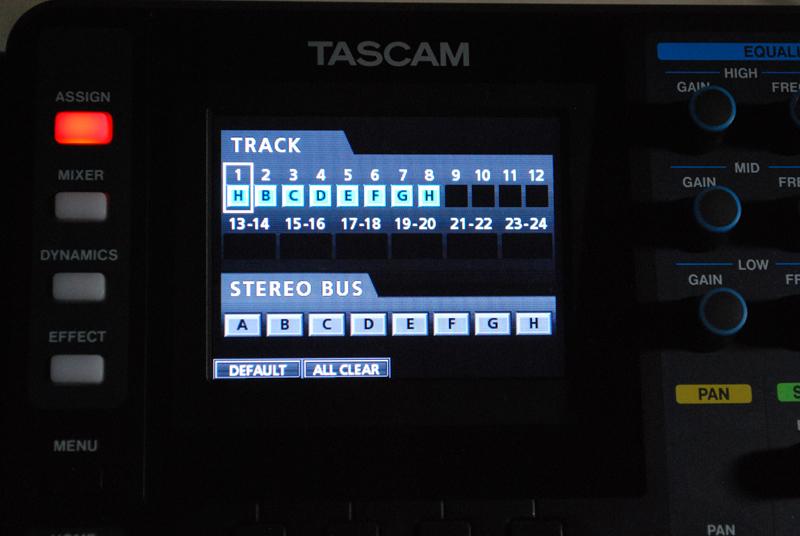 ASSIGNボタンを押すと接続をセッティングする画面が現れる