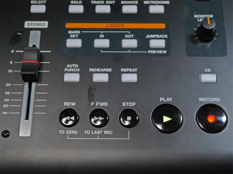 RECORDボタンを押すとレコーディングがスタート