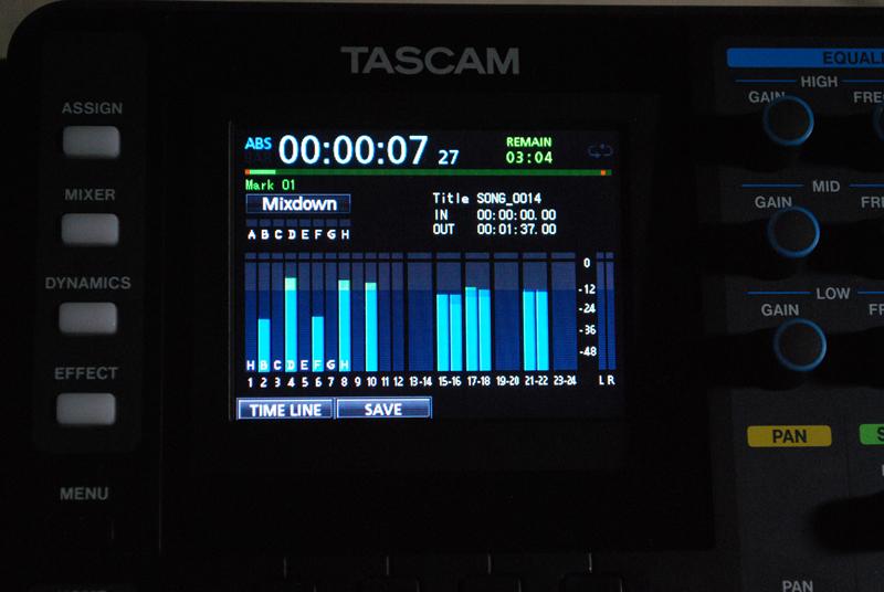 MixdownモードにしてRECORDボタンを押すとマスターファイルが生成される