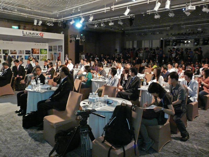 台湾で開催されたLUMIX GF5の記者会見の様子