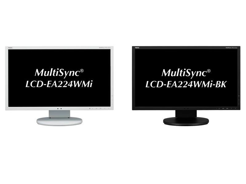 MultiSync LCD-EA224WMiのホワイト(左)とブラック(右)