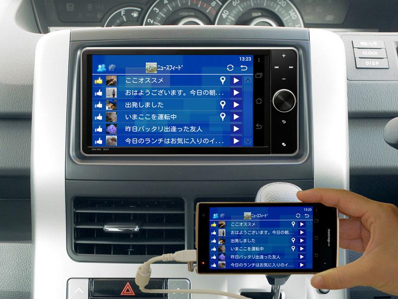 スマホのSNSアプリを車載ディスプレイから利用