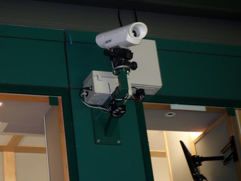 センターコートに設置されている毎秒350フレームの高速カメラ。今後はソニーとカメラの共同開発も