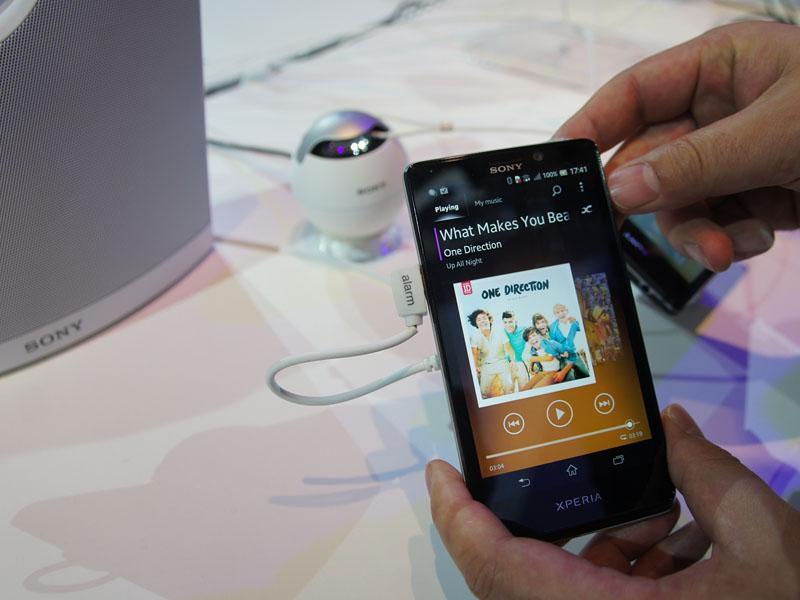 NFC対応のXperia T