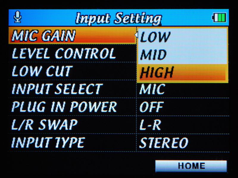 マイク入力は3段階切り替えが可能