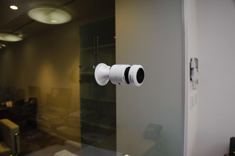 吸盤式のガラスマウントアダプタ利用例