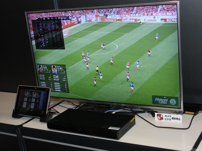 ハイブリッドキャストを活用したスポーツ視聴の例