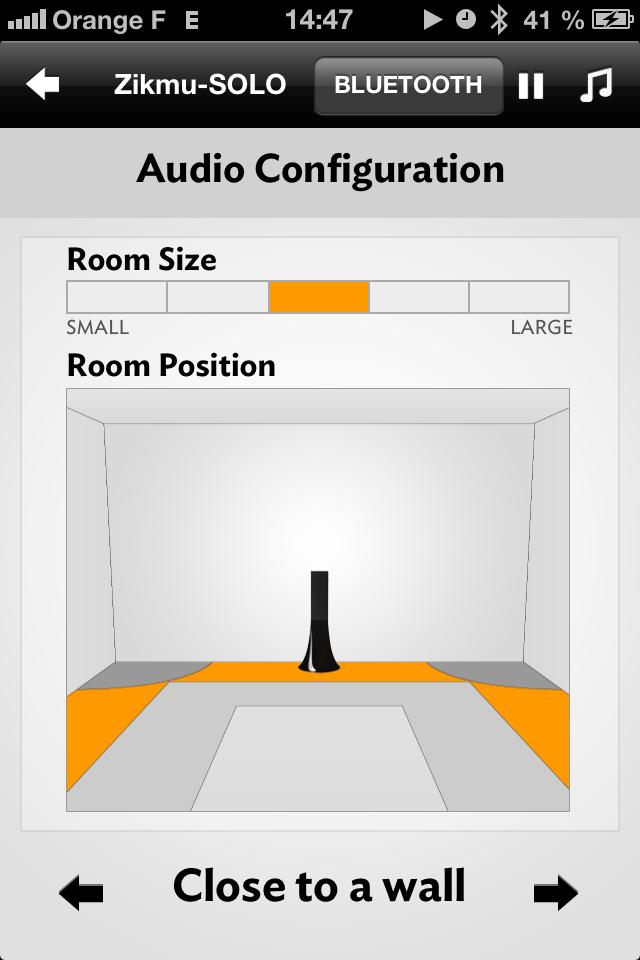 部屋のサイズや設置位置を調整