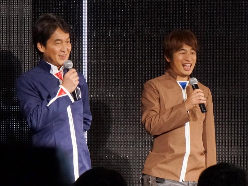 左が夏野剛ドワンゴ取締役、右が川上量生ドワンゴ代表取締役会長