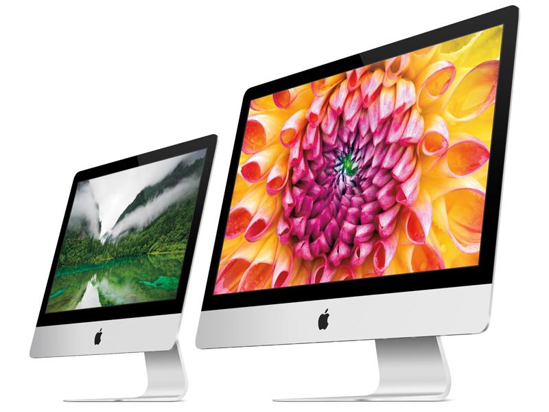 iMacの21.5型(左)と27型(右)