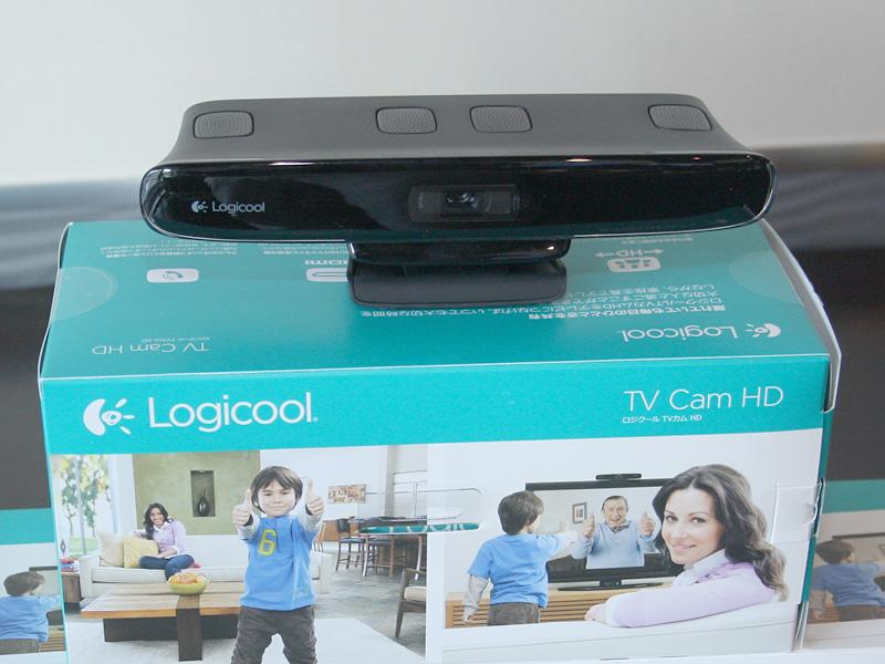 ロジクール TVカム HD本体とパッケージ