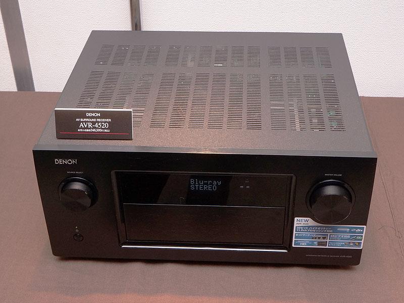 ブース内にはDALIだけではなく、デノンのAVアンプ「AVR-4520」や、新しいヘッドフォンシリーズなど、新製品が紹介されている