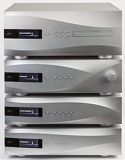 上から、「Vivaldi Transport」、「Vivaldi DAC」、「Vivaldi Clock」、「Vivaldi Upsampler」