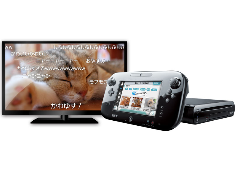 Wii Uの「ニコニコ」アプリ使用イメージ