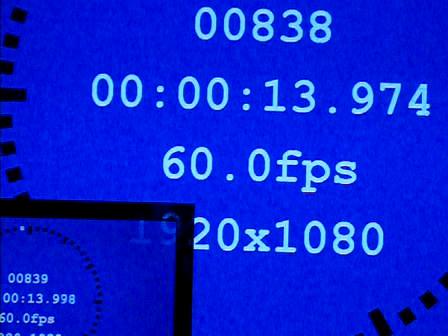 2D時の表示遅延時間は24ms(60H時約1.4フレーム)