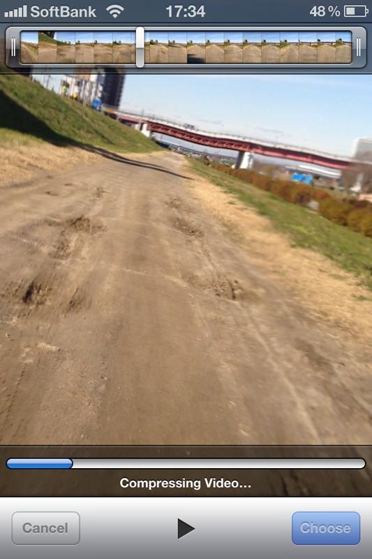 iPhoneで撮影したフルHD動画は、720pに変換してアップロードされた
