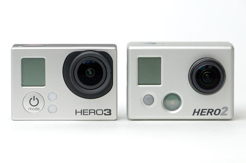 HERO3とHERO2を比較
