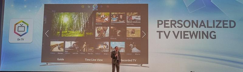 通常のテレビ放送はOn TVパネルから。時間帯によってお勧め番組を紹介してくれる