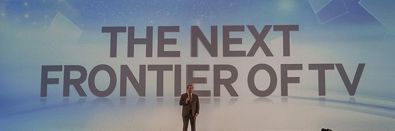 「次のフロンティア」として4K2K対応テレビが紹介された
