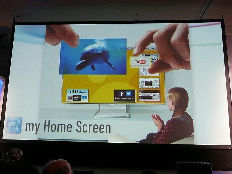 新たなSmart VIERAでは、my Home Screenを採用した