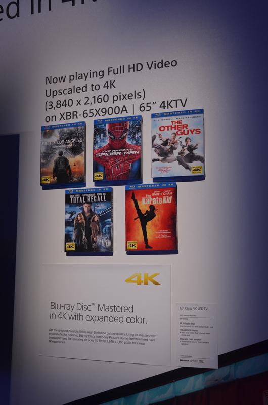 '13年春から発売が予定されているTRILUMINOS Color(x.v.Color)記録のBlu-rayソフト群。現状では「The Amazing Spider-Man」、「Total Recall」、「The Karate Kid」、「Battle: Los Angeles」、「The Other Guys」など、十数タイトルの発売を予定