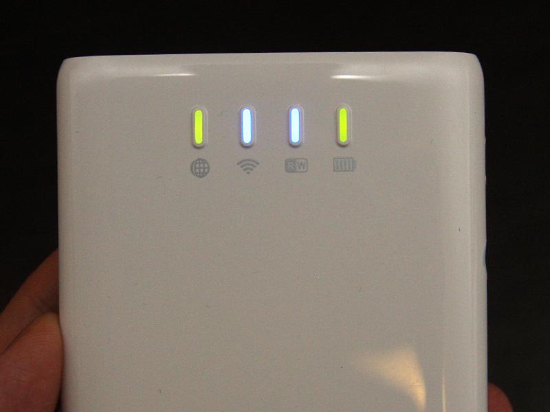 インターネット接続完了すると、本体の一番左のランプも点灯