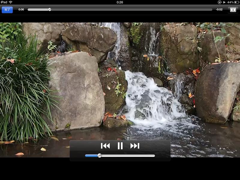 フルHD動画再生画面(iPad)