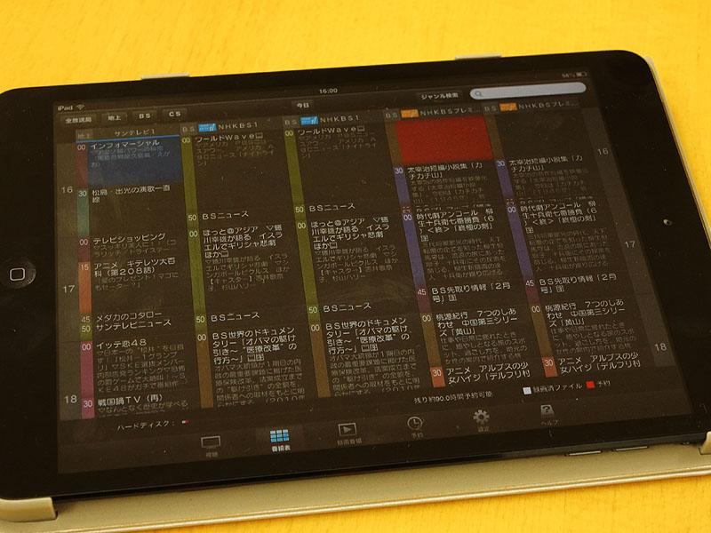 iPad miniで使用しているところ