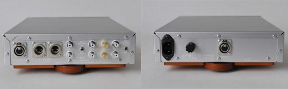 左がアンプの背面、右が電源の背面