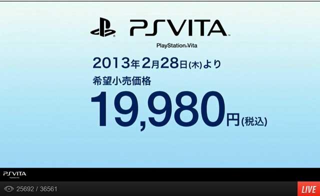 PS Vitaを19,980円に値下げ