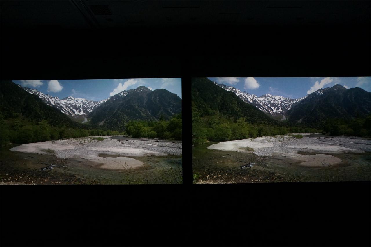 超解像(左)とISVC(右)