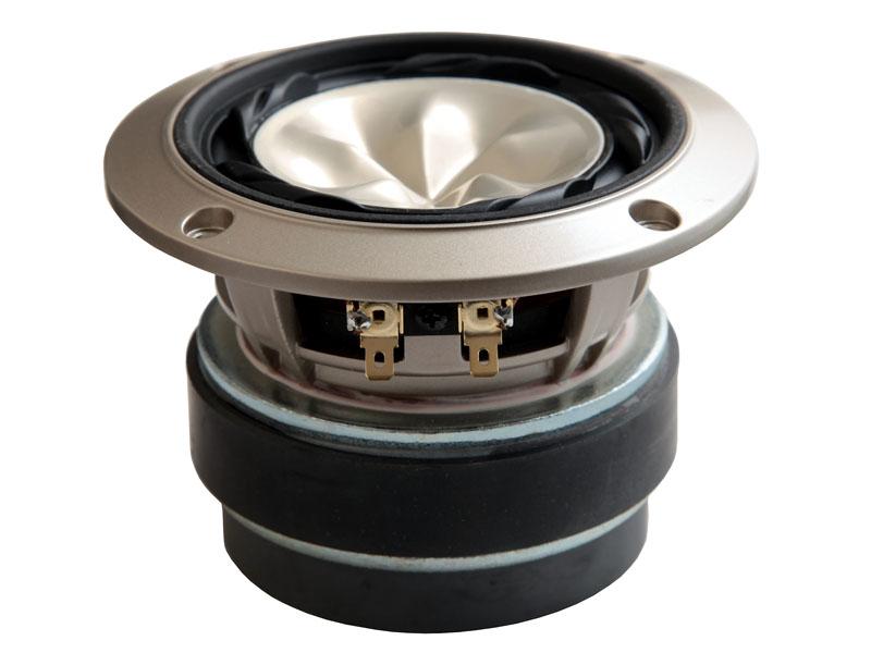 新開発の、10cm径純マグネシウムHR振動板採用ユニット