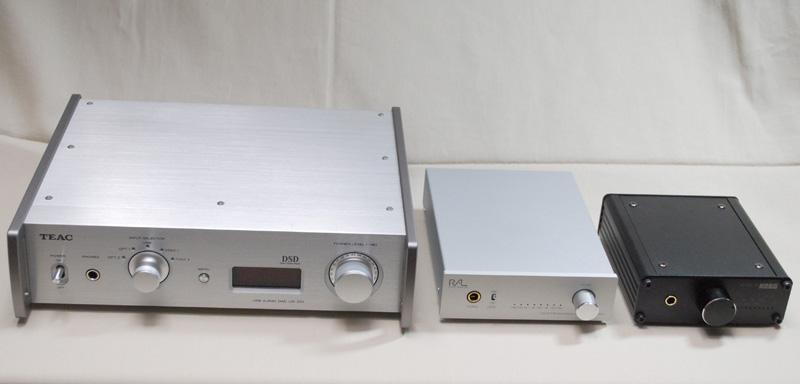 左からUD-501、DS-DAC-10、RAL-DSDHA1