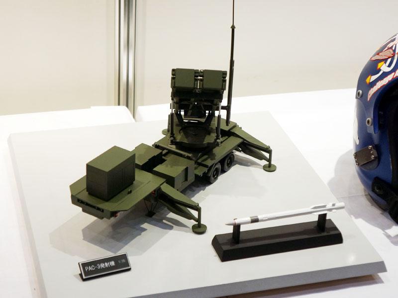北朝鮮の弾道ミサイルに備えて配備された事も話題となっている地対空ミサイル「PAC-3」の模型