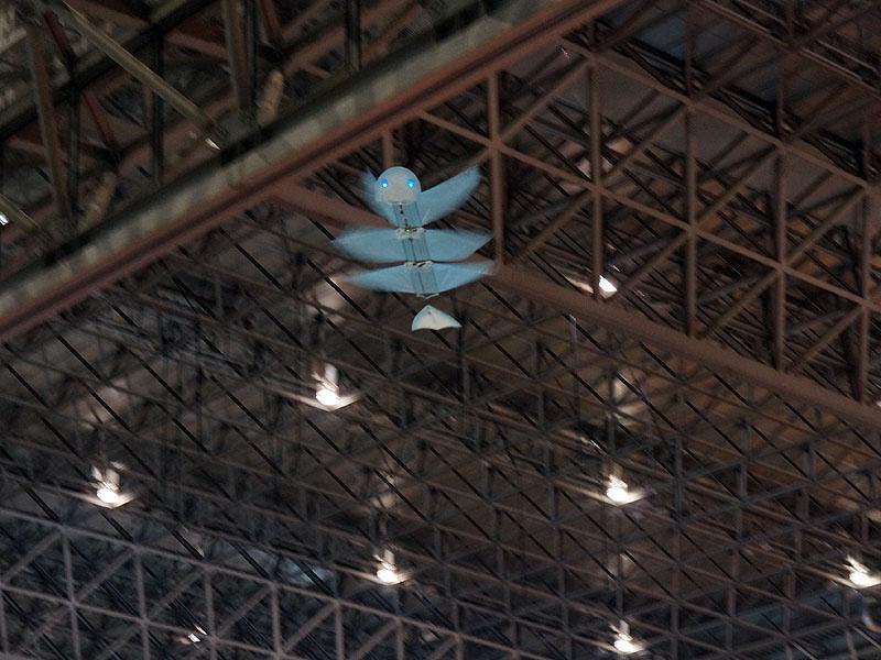 超軽量飛行体が会場を飛び回る