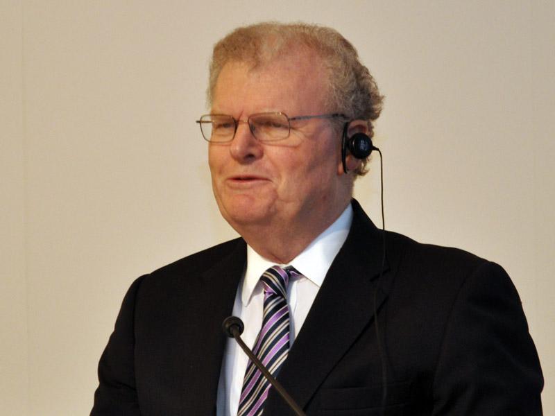 ハワード・ストリンガー氏(2012年2月のCEO退任会見から)