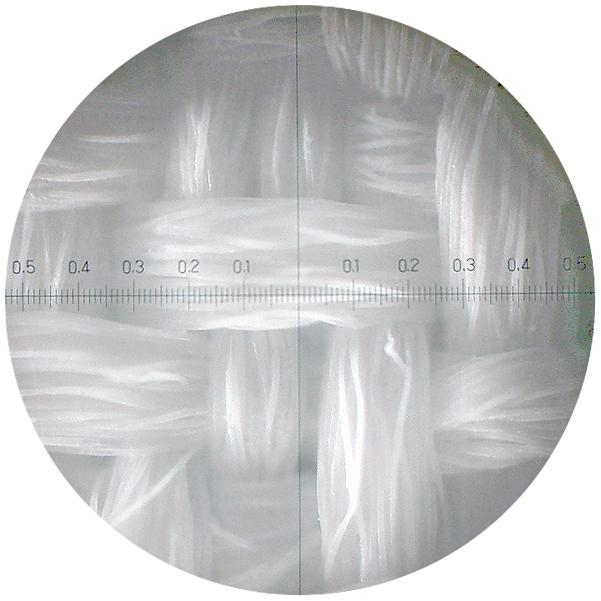 生地を顕微鏡で見た写真