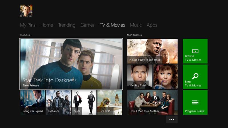 テレビと動画サービスを利用するための画面