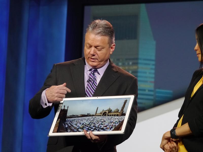 CESで披露した20型4K IPSα液晶パネルを搭載した「4K Tablet」