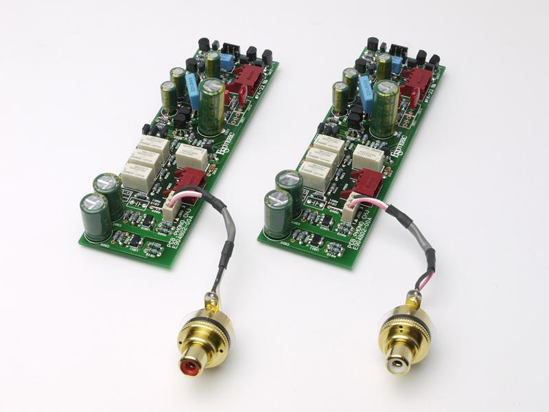 L/R独立基板のフォノアンプ