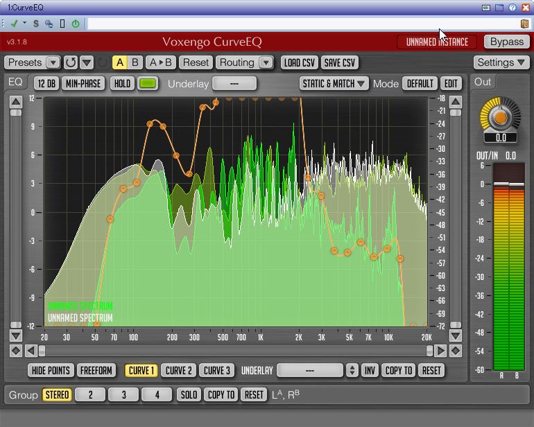 作成したEQの設定を利用して、他の楽曲をよく似たサウンドに仕立てられる
