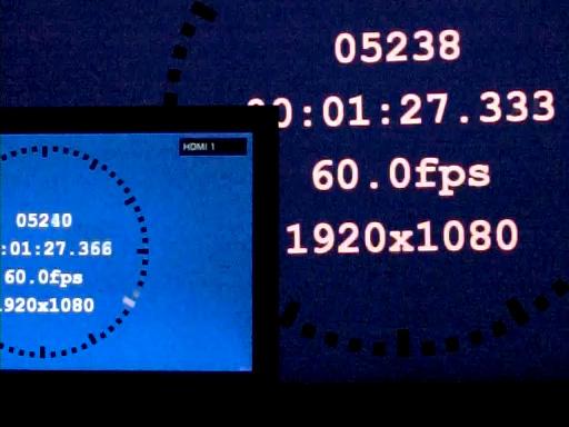 「シーン=ゲーム」×「画質モード=ゲームオリジナル」で約33ms(60Hz時換算で約2.0フレーム)
