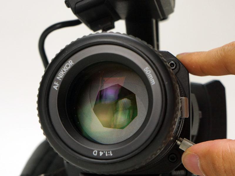 絞りリングのある「Ai AF Nikkor 50mm f/1.4D」を取り付けたところ