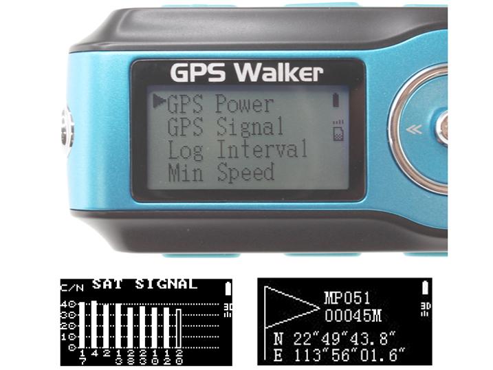 GPS表示の例(下はイメージ)