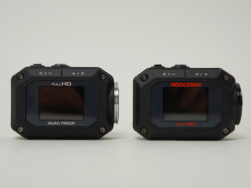 XA1(左)とXA2。サイズは全く同じ
