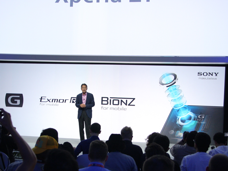 Z1のカメラ部に搭載した同社デジタルカメラの技術
