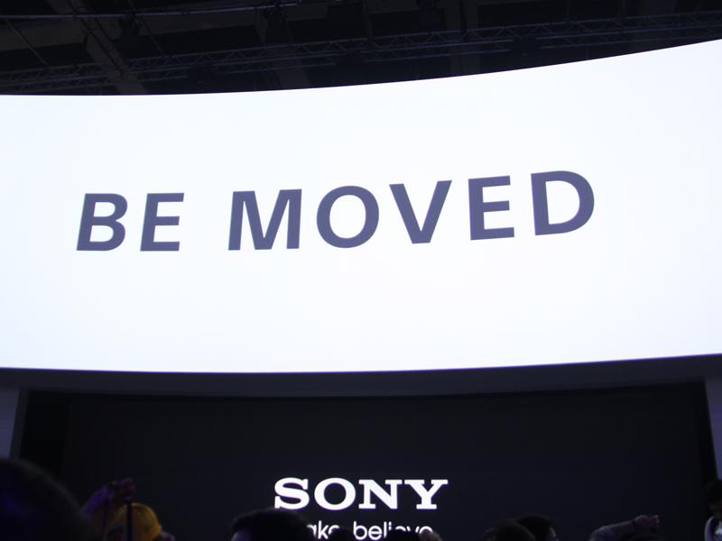 「BE MOVED」を掲げ、今後も新しい製品を提供し続けることを宣言した