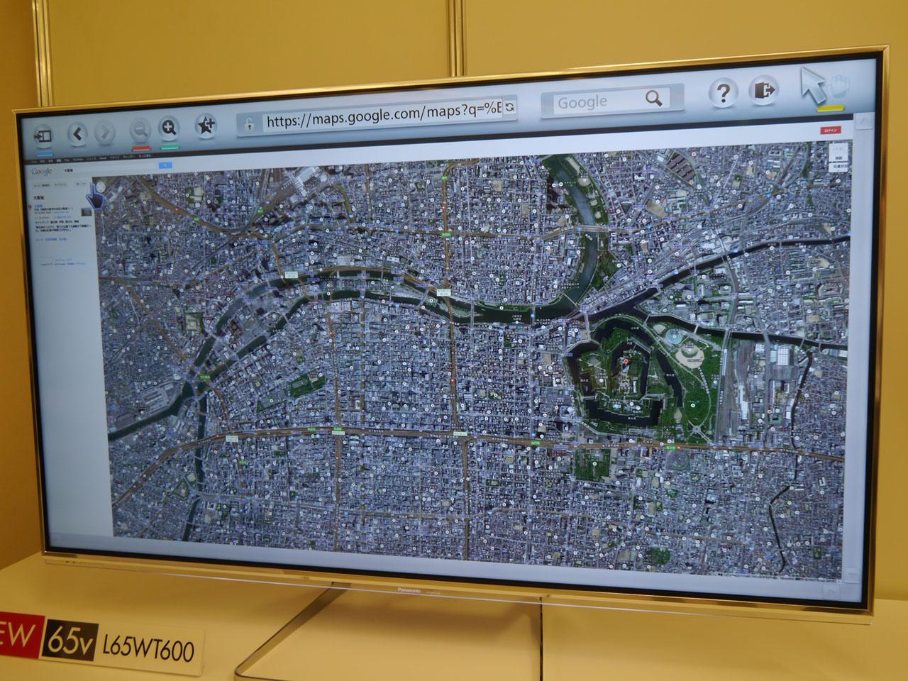 地図も鮮明な画像で表示できる