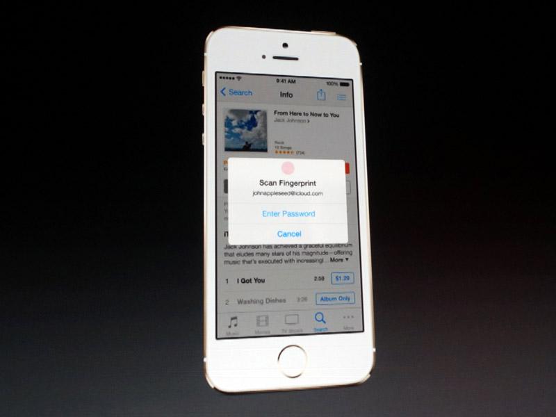 iTunes StoreやApp Storeのパスワード入力にも利用できる