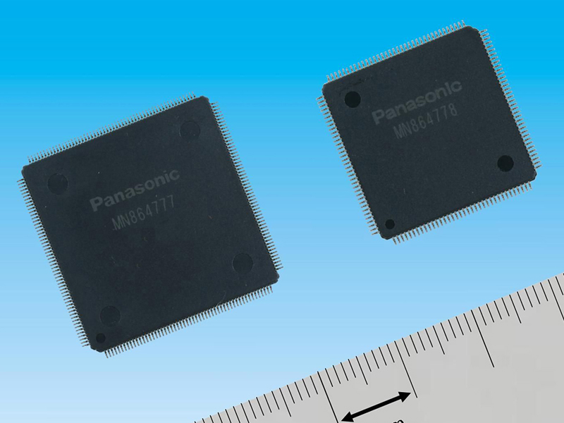 HDMI 2.0規格準拠の4K 50/60p対応通信LSI。左が「MN864777」、右が「MN864778」